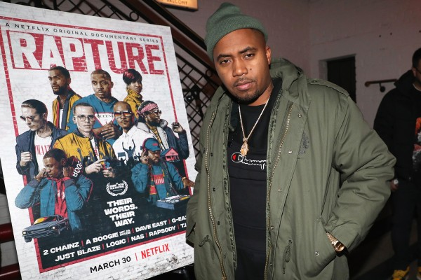 "NEW YORK, NY - MARCH 20:  Nas attends the""Rapture"" Netflix Original Documentary Series, Special Screening at The Metrograph, New York at Metrograph on March 20, 2018 in New York City.  (Photo by Johnny Nunez/Getty Images for Netflix)"